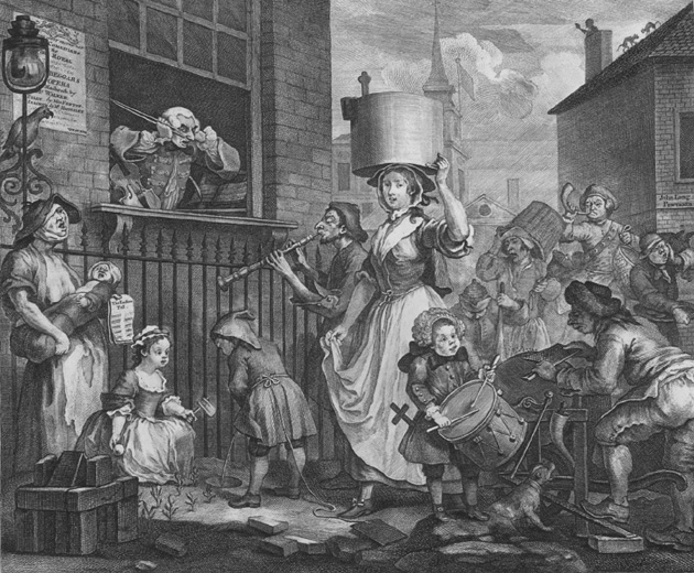 Hogarth's picture of Enranged Musician